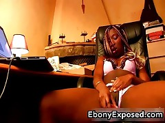 Booty Black Dreads Webcam Dildoing 2 By EbonyExposed