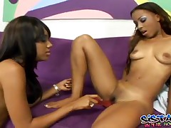 Tina And Kapri - Young Ebony Babes Making Out