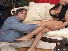 Audrey Bitoni - Hot Footjob On Cock