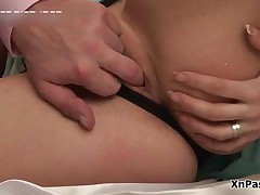 Sexy Teen Brunette Loves Getting Her Tight Pussy Pumped Up By XNPass