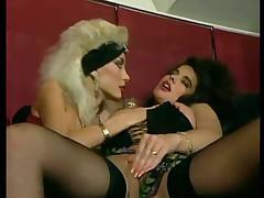 Asia Carrera and Janine lesbian sauna