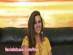 Vanessa Lee - This Big Tit Pornstar Vanessa Lee Prepares To Get Her Pretty Throat Fucked By A Facial