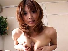Japanese housewife Ai Kurosawa gives perfect a blowjob