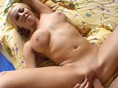 Nice Tits MILF Spreading Pussy While She Gets Fucked Hard
