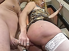 Man Giving A Good Fuck To A Horny Blonde Transseual