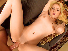 Amazing Squirt Performed By Horny Blond After Ridind Cock