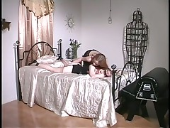 Blond Mistresses Deliver Insane Spanking