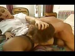 European babe masturbates and fucks