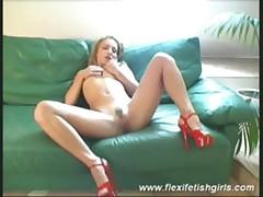 Flexi fetish girl fingering