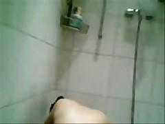 Asian Mom in Shower