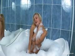 Bath orgasm of russian glamour