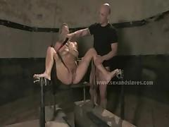 Blonde innocent prisoner bondage sex