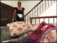 Big titted black ebony maid Kitten fucking