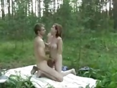 Threesome In Woods
