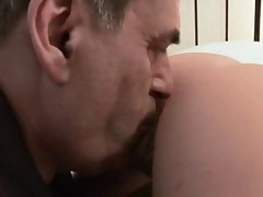 Teen pays taxi bill suck old driver cock