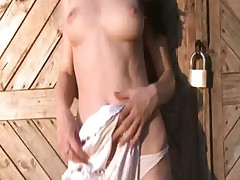 nice striptease with a young cat