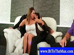 Hot tugging at bi sex orgy