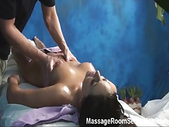 Hot girl recorded in massage room hidden cam