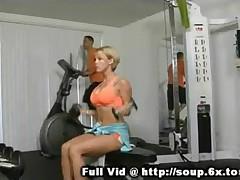 Busty Mom in a Gym