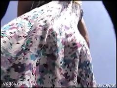 Lace White Thong Milf Upskirt