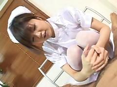 Footjob by a nurse