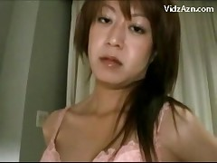 Asian Girl In Jeans Skirt Getting Her Pussy Fingered Giving Blowjob On The Couch