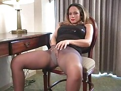 Courtney in Black Pantyhose