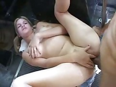 Blonde Teen on bus
