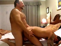 BEAR dad fucks BARE hot HAIRY bearded ASS