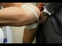 Man in suit fucks sporty gay guy