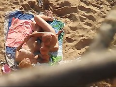 Couple fuck on beach