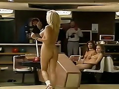 Nice girls paying bowling