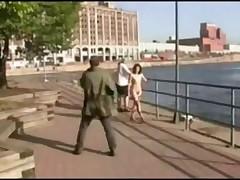 Midget walking naked on streets