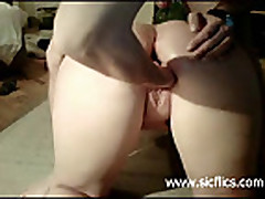 Greedy housewives fist fucked in their hungry twats