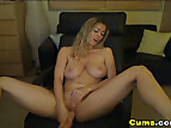 Cam; Busty Blond Dildo inside her HD