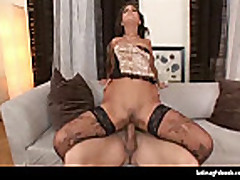 Busty latina loves to ride cock
