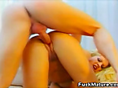 Blonde Mature Anal Fucked