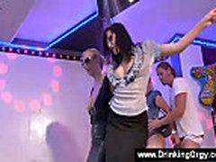 Pornstars loosing control at a club