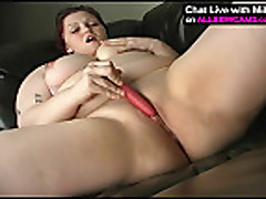 Fat plumper ass masterbating on couch 2