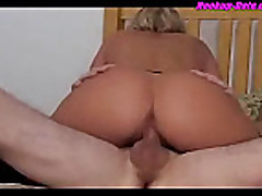 Blonde milf babe fucking the plumber