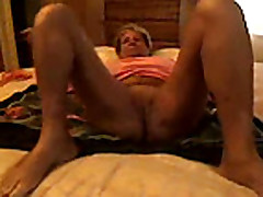 No Sound: Private orgasm of Granny Diana
