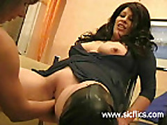 Extreme monster cock fucking double fisted amateur whore
