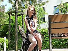 Teen Babes Masturbating In A Public Park