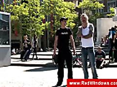Tourist guide showing a dutch hooker